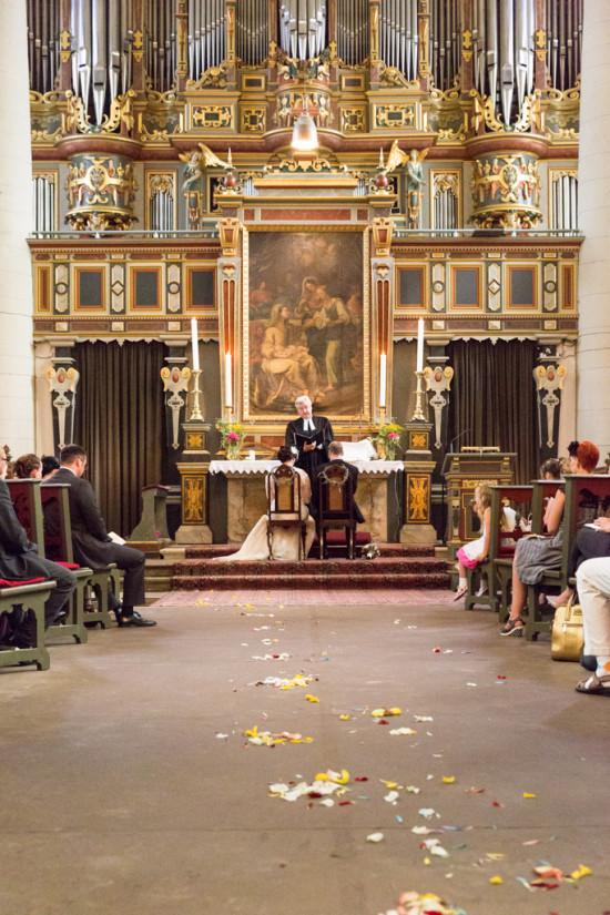 Juliane Tristan Reportage Hochzeit Trauung Kirche Stadtkirche Orgel Prunkvoll Fotograf Bückeburg - Diana Jill Fotografiie