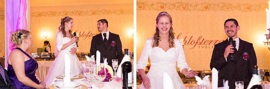 Daniela Andreas Ansprache Eröffnung Buffet Hochzeitspaar Brautpaar Hochzeit Feier Salzkotten Paderborn Fotografe - Diana Jill Fotografie