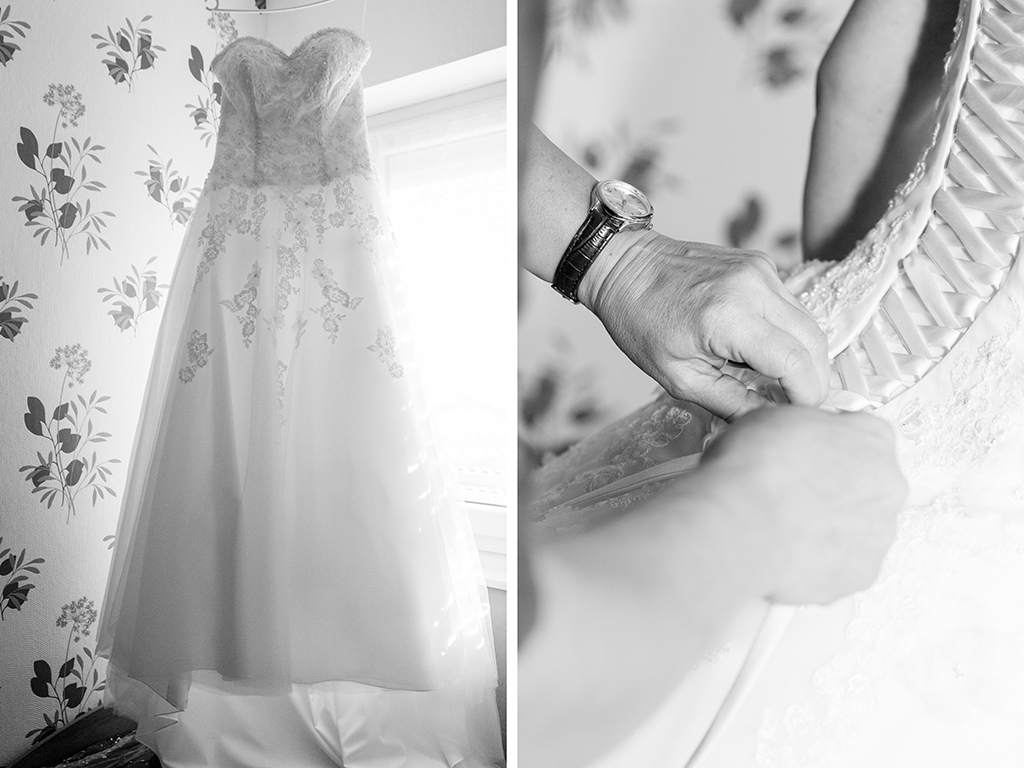 Daniela Andreas Hochzeit Vorbereitungen Getting Ready Brautkleid Hochzeitskleid Ankleiden Braut Paderborn Sande Delbrück Hochzeitsfotograf - Diana Jill Fotografie