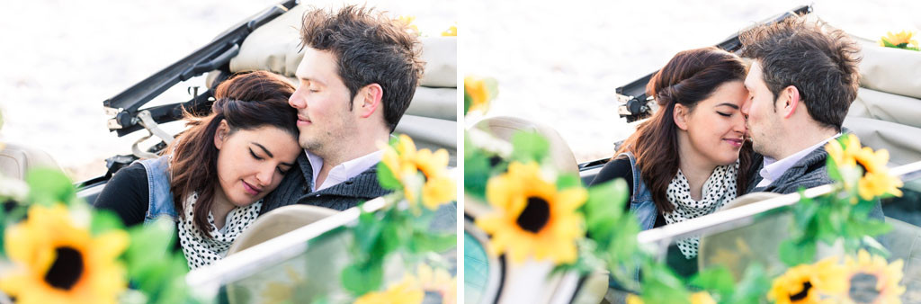 Verlobungsshooting Engagementshooting Paarshooting Paar Sonnenblumen Shooting Verlobung Hochzeit Hochzeitsfotograf Paderborn Hövelhof